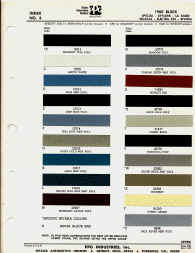 buick paint chips sample colors