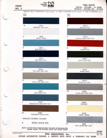buick paint chips