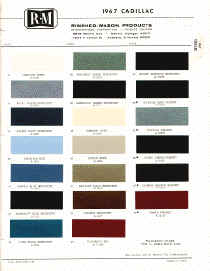 cadillac paint chips color samples