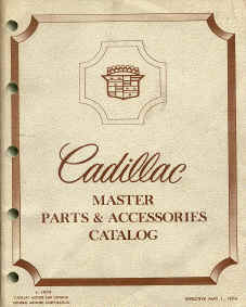 cadillac parts book numbers interchange