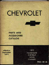 chevy car parts book