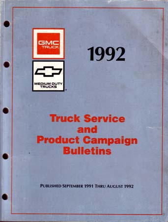 chevrolet truck service repair bulletins