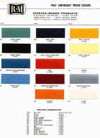 chevrolet truck paint chips