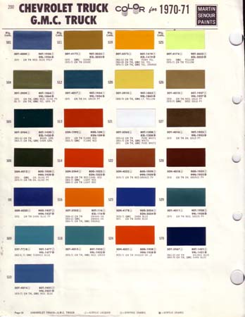 chevy truck paint chips