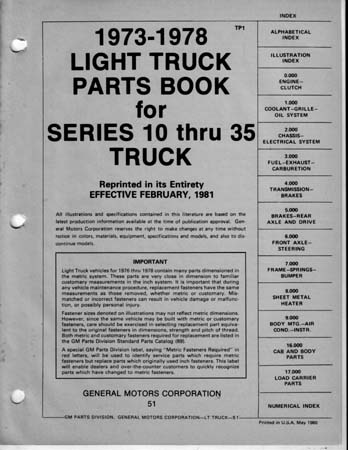 chevy truck parts book