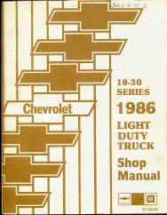 chevy truck shop servcie repair manual