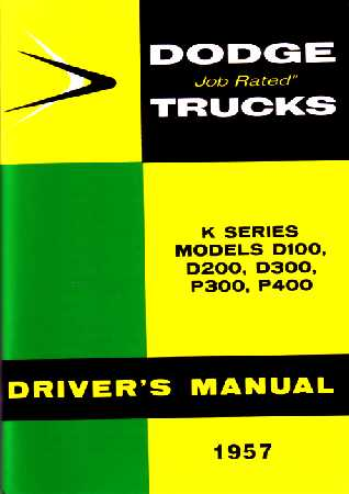 dodge truck owners manual