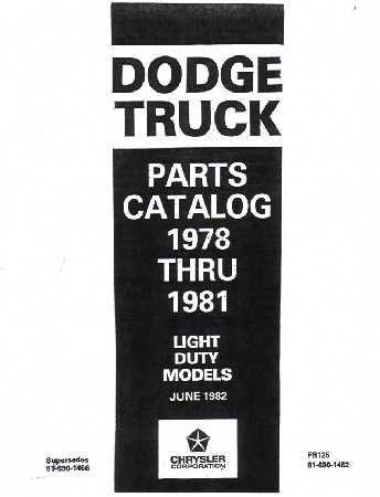 dodge truck parts book number interchange