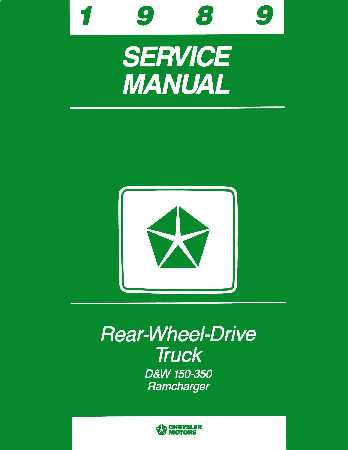 dodge truck shop service repair manual