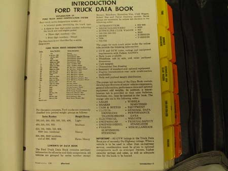 ford truck databook