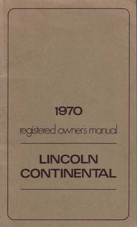 Lincoln Owners Manual