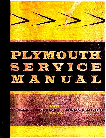 plymouth shop service repair manual