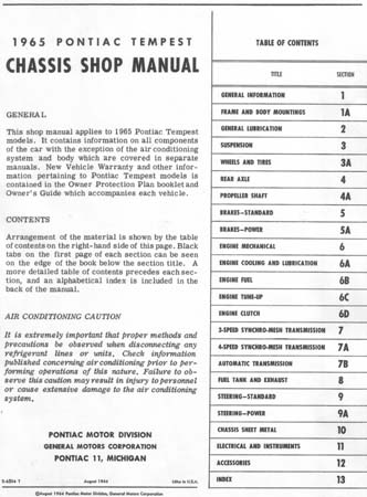 pontiac shop manual