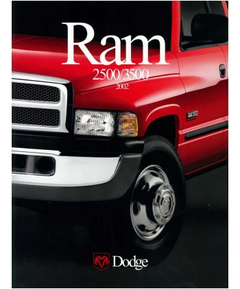 2002 DODGE RAM PICKUP TRUCK 2500 3500 Sales Brochure
