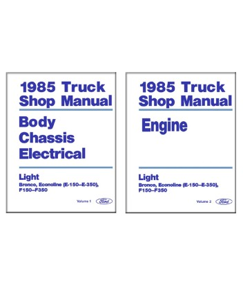 ford f150 f350 light duty truck & econoline body, chassis on 1985 Ford E350 Wiring Diagram for 1985 ford f150 f350 light duty truck & econoline body, chassis & electrical service manual at 85 Ford F150 Wiring Diagram