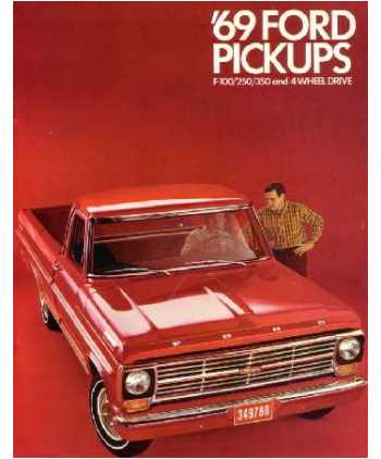 [DIAGRAM_09CH]  1969 FORD F100-F350 TRUCK Sales Brochure | Details About Ford 1969 F100 F350 Truck Wiring Diagram Manual 69 |  | Bishko Books