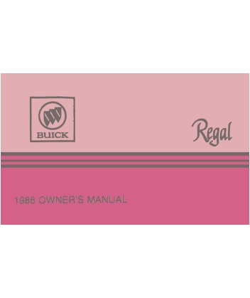 1986 buick regal owners manual rh autobooksbishko com 1987 Buick Regal 1987 Buick Regal