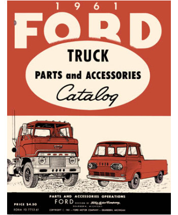 1961 FORD TRUCK Body amp Chassis Text amp Illustration Parts Book