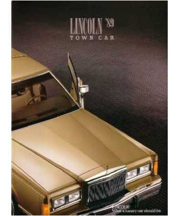 1989 Lincoln Town Car Sales Brochure