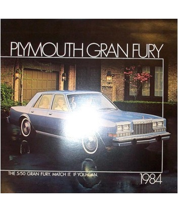 1984 plymouth gran fury sales brochure. Black Bedroom Furniture Sets. Home Design Ideas