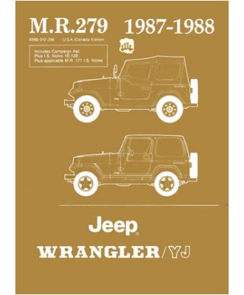1987 88 jeep wrangler yj body chassis electrical service manual rh autobooksbishko com 88 YJ Interior 88 YJ 3 in Lift