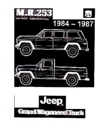 1984 87 jeep grand wagoneer body chassis electrical. Black Bedroom Furniture Sets. Home Design Ideas