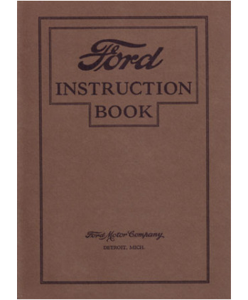 ford model  owners manual