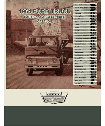 1964 FORD TRUCK Body & Chassis, Text & Illustration Parts Book