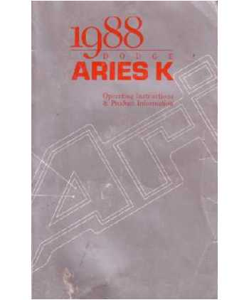 1988 dodge aries k owners manual 1989 dodge aries engine diagram wiring schematic
