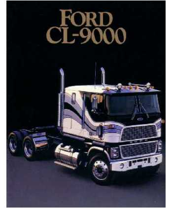 1985 FORD CL 9000 SERIES Sales Brochure