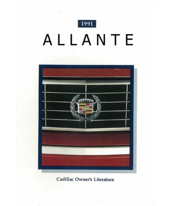 1991 cadillac allante owners manual rh autobooksbishko com cadillac allante owners manual Cadillac Allante Coupe