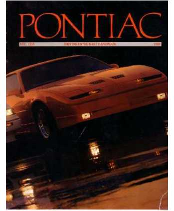 1989 PONTIAC Full Line Sales Brochure