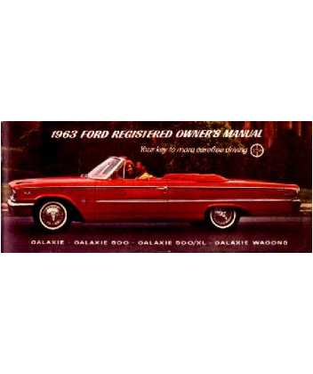 ford galaxie owners manual