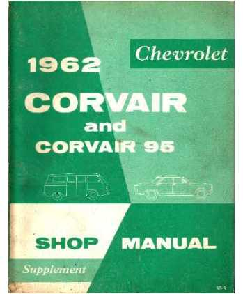 1962 CHEVROLET CORVAIR Body Chassis amp Electrical Service