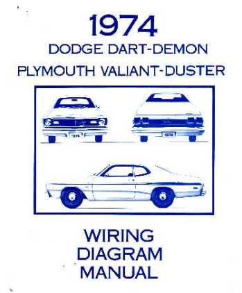 dodge dart plymouth duster valiant wiring diagrams 1974 dodge dart plymouth duster valiant wiring diagrams