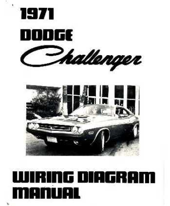 1971 dodge challenger wiring diagrams