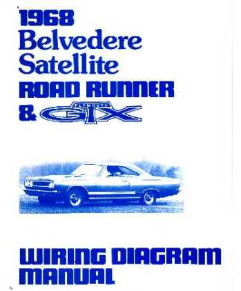 1968 plymouth belvedere  road runner  u0026 satellite wiring