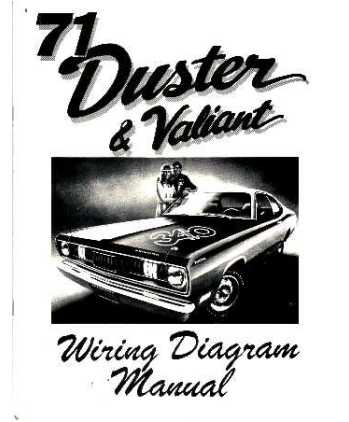 1971 PLYMOUTH DUSTER amp VALIANT Wiring Diagrams