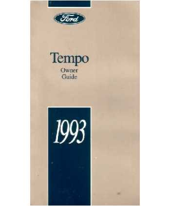 ford tempo owners manual