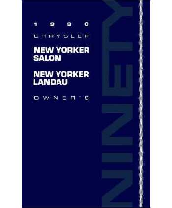 1990 chrysler new yorker salon landau owners manual for 1990 chrysler new yorker salon