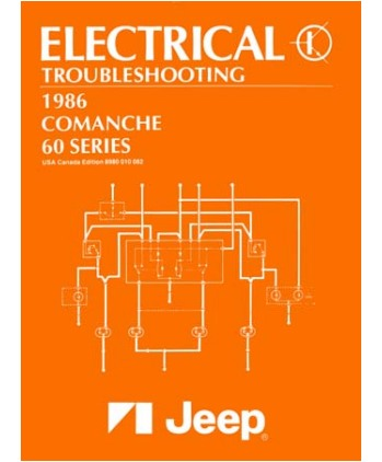 1986 JEEP COMANCHE/60 SERIES Electrical, Wiring ... Jeep Comanche Electrical Wiring Schematic on