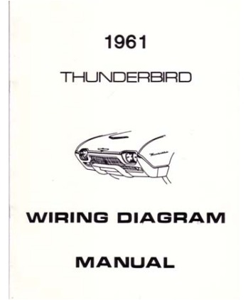 1961 ford thunderbird wiring diagrams  bishko books