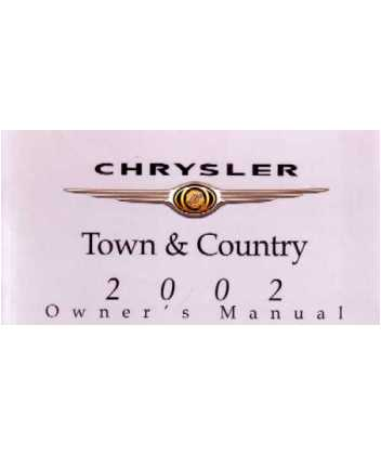 2002 chrysler town country owners manual rh autobooksbishko com 2002 Town and Country Limited 2002 town and country van owners manual