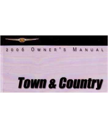 2006 chrysler town country owners manual. Black Bedroom Furniture Sets. Home Design Ideas