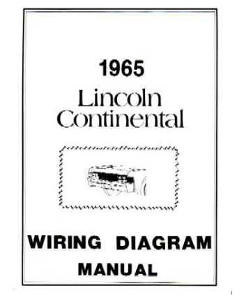 1965 lincoln continental wiring diagrams