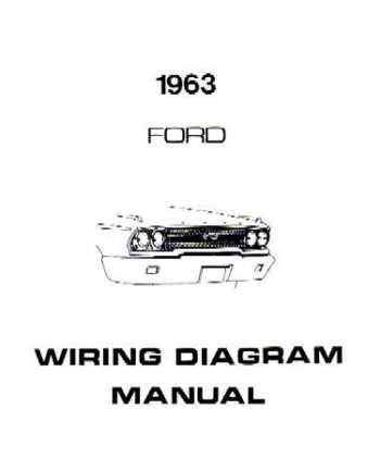 1963 FORD GALAXIE Wiring Diagrams