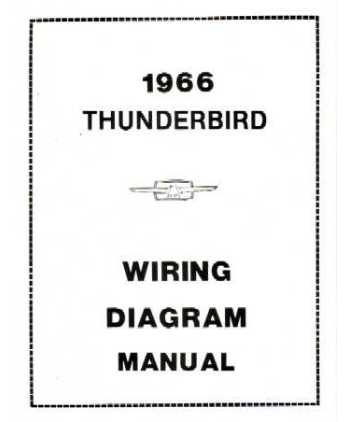 1966 FORD THUNDERBIRD Wiring Diagrams