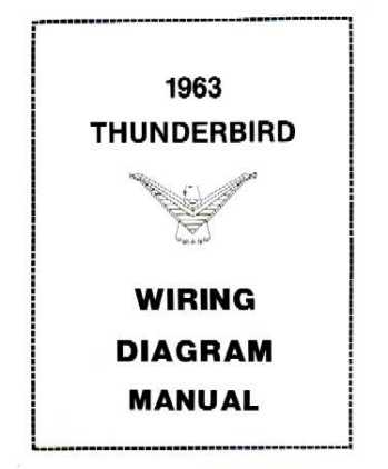 1963 FORD THUNDERBIRD Wiring Diagrams