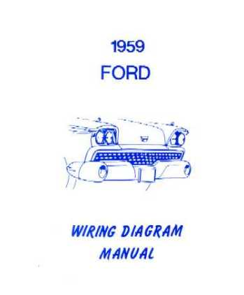 1959 FORD Full Line No T Bird Wiring Diagrams