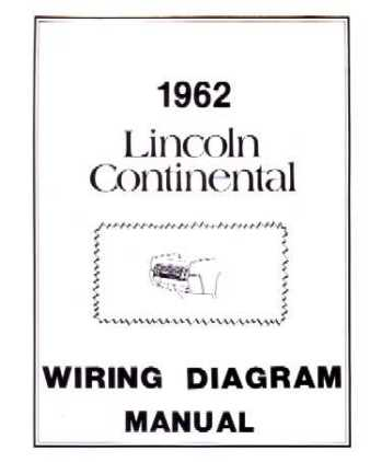 1962 LINCOLN CONTINENTAL Wiring DiagramsBishko Books
